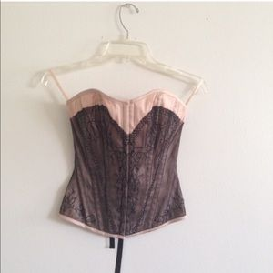 Tops - Nude Lace Corset